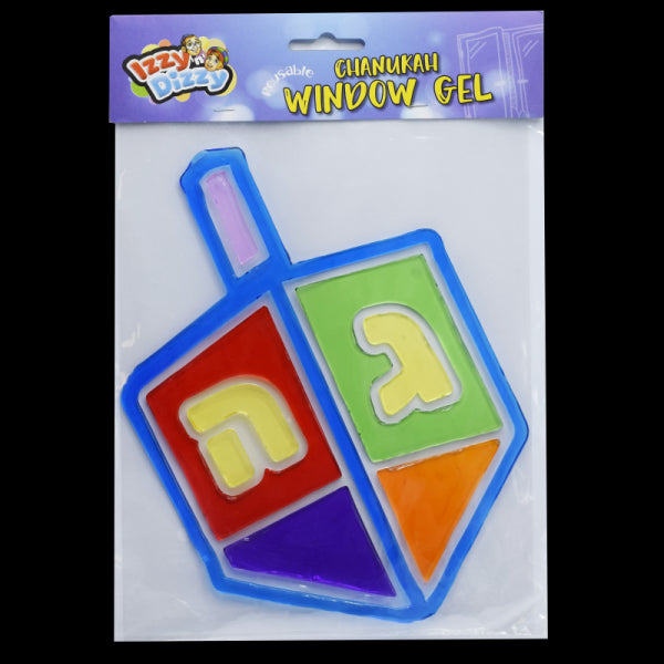 Chanukah Window Gels - Dreidel