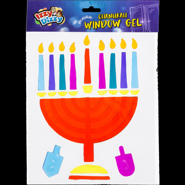 Chanukah Window Gel - Menorah