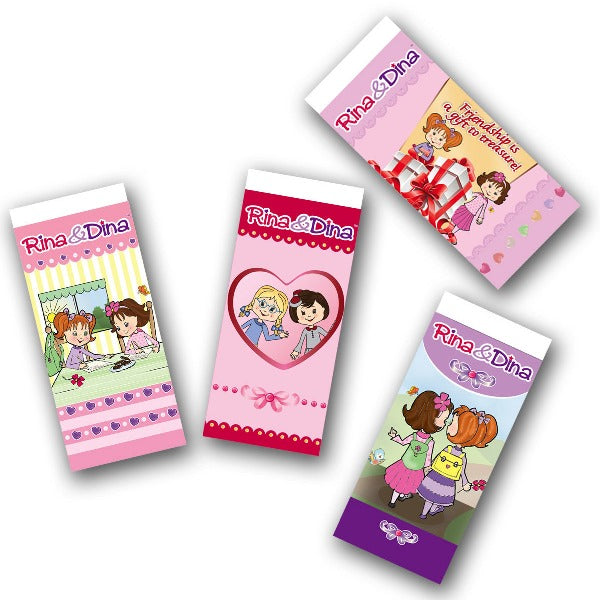 Rina and Dina School Erasers 2 Pack
