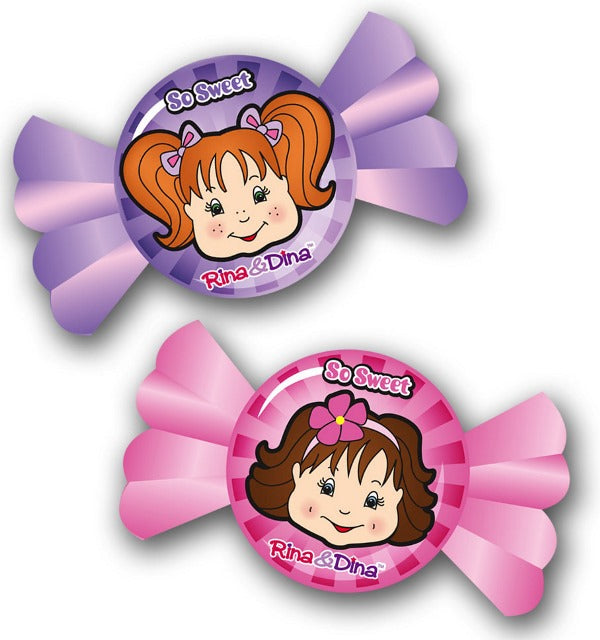 Rina and Dina Face Erasers 2 Pack