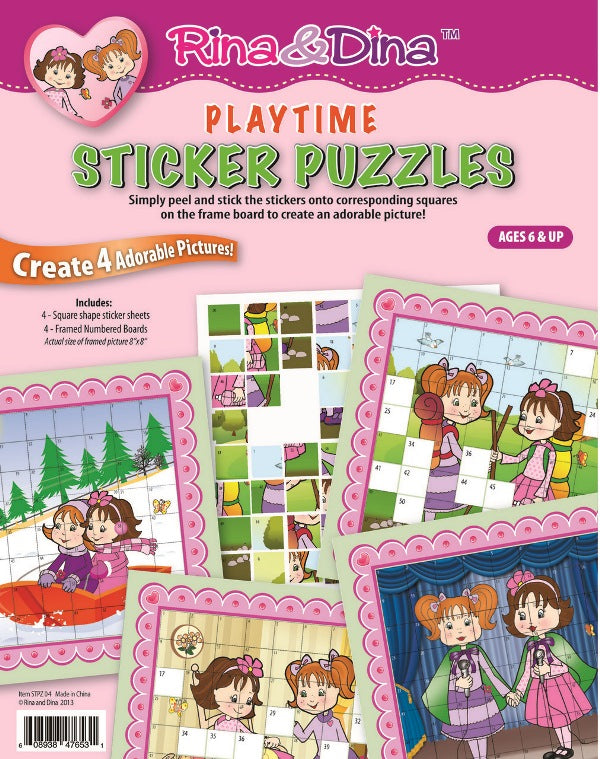 Rina and Dina Playtime Sticker Puzzle
