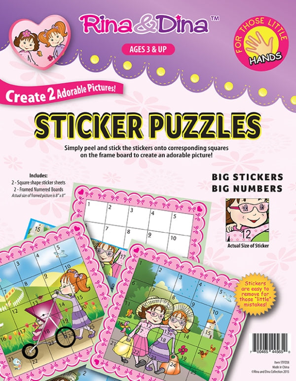Rina and Dina Little Hands Sticker Puzzle