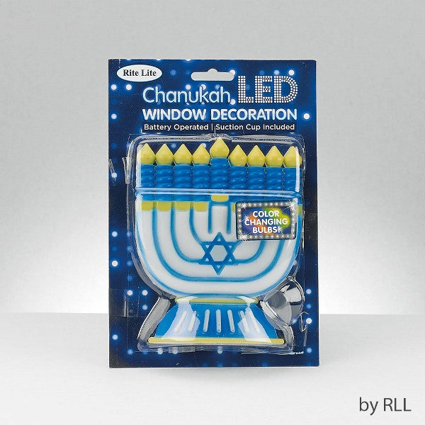Chanukah Led Window Decoration: Color Changing Bulbs