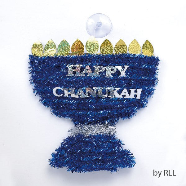 Menorah Shaped Tinsel Decoration