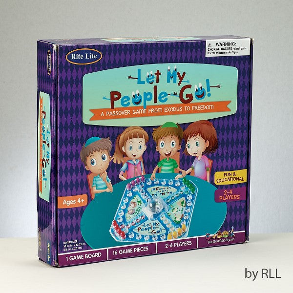 Let My People Go Passover Game Color Box