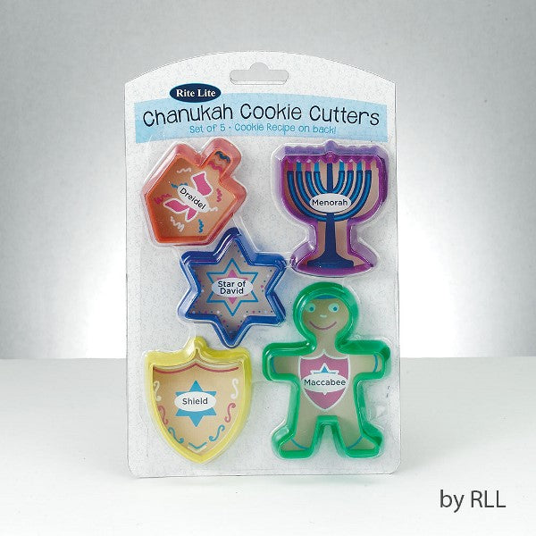 Chanukah Cookie Cutters: Set of 5 & Cookie Recipe