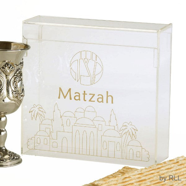 Matzah Box: Acrylic Flip Top