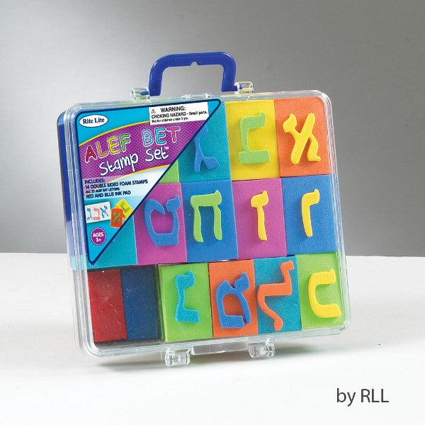 Alef Bet Stamp Set: 14 Double Sided Foam Stamps