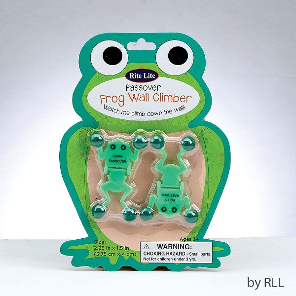 Passover Frog Wall Climber: Watch Me Climb Down The Wall!