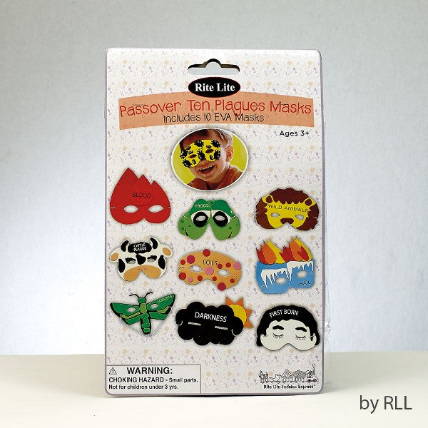 Passover Ten Plagues Masks: Includes One Mask For Each of The Ten Plagues