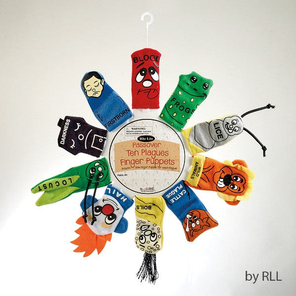 Passover Ten Plaques Finger Puppets: Includes One Finger Puppet For Each Plague!