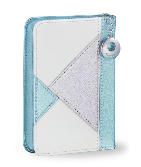 Siddur Es Ratzon: Leather Zipper Triangles - Turquoise