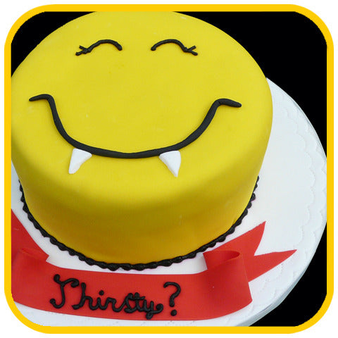 "The Happy ""Fang"" Face - The Office Cake Delivery Miami - Cakes"