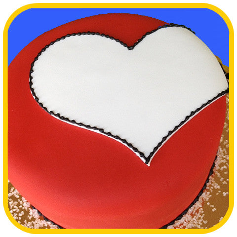 White Heart - The Office Cake Delivery Miami - Cakes