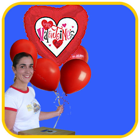 Valentine's Balloons - The Office Cake Delivery Miami - Balloons