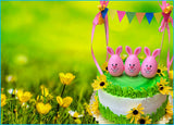 Three Easter Egg Bunnies Cake