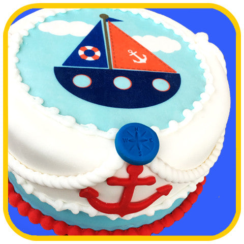 Ahoy Sailboat Cake
