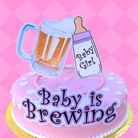 Baby is Brewing Cake