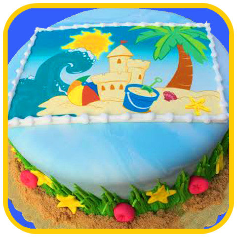 Beach Party Cake - The Office Cake Delivery Miami - Cakes