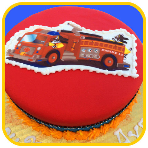 Fire Truck Cake - The Office Cake Delivery Miami - Cakes