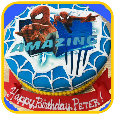 Amazing Spiderman Cake - The Office Cake Delivery Miami - Cakes