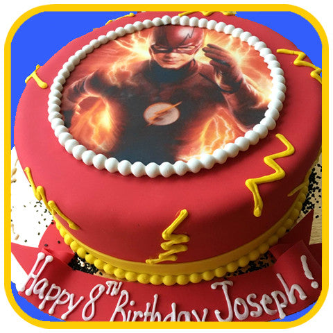 Super Hero Custom Photo Cake - The Office Cake Delivery Miami - Cakes