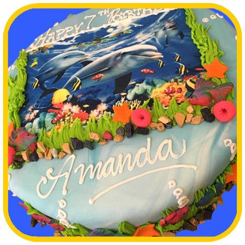 Under the Sea Custom Photo Cake - The Office Cake Delivery Miami - Cakes
