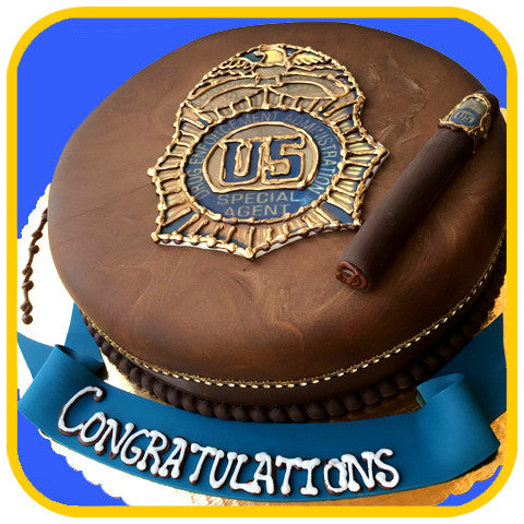 Police Badge Cake - The Office Cake Delivery Miami - Cakes
