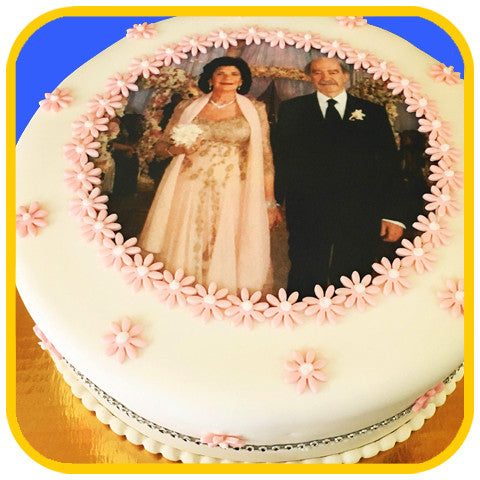 Golden Years Photo Cake - The Office Cake Delivery Miami - Cakes