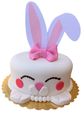 Fondant Bunny Cake with Bow