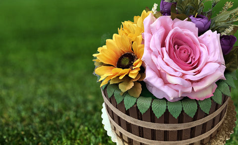 Flower Barrel Cake