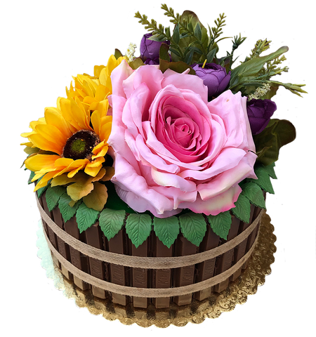 Flower Barrel Cake The Office