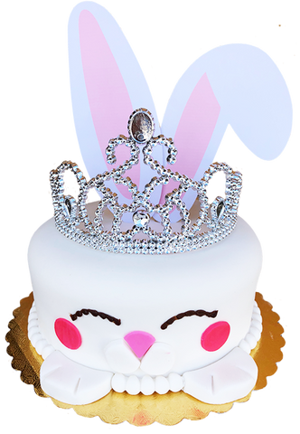 Fondant Bunny Cake with Crown