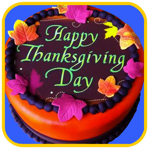 Fondant Thanksgiving - The Office Cake Delivery Miami - Cakes