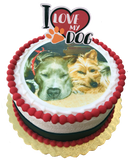I Love My Dog - Photo Cake