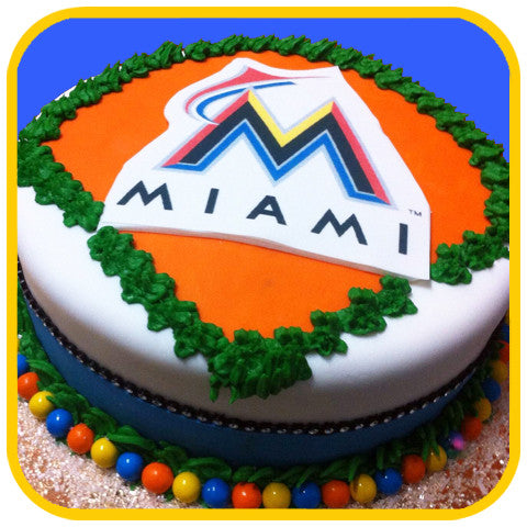 Marlins Cake - The Office Cake Delivery Miami - Cakes