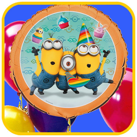 Minions Balloons - The Office Cake Delivery Miami - Balloons
