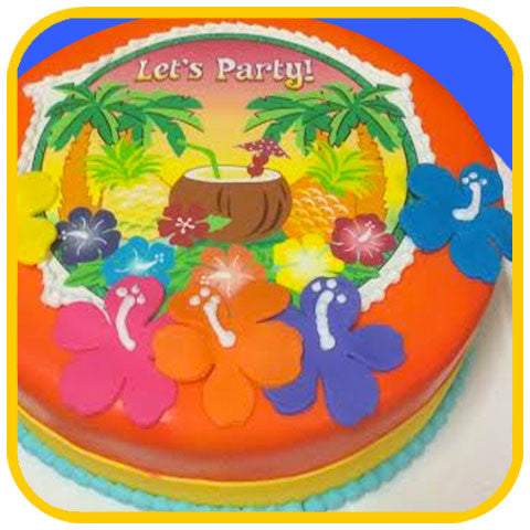 Luau Cake - The Office Cake Delivery Miami - Cakes