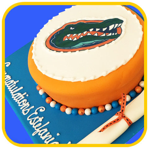 UF Gators Graduation Cake - The Office Cake Delivery Miami - Cakes