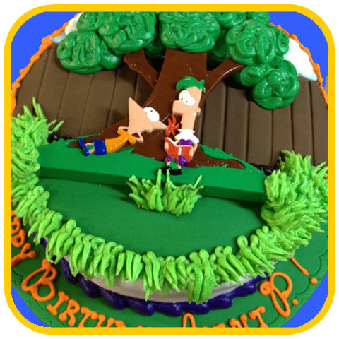 Phineas and Ferb cake - The Office Cake Delivery Miami - Cakes
