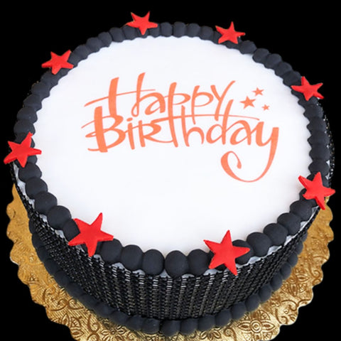 Red Star Happy Birthday Cake