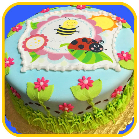 Springsects Ladybug Cake - The Office Cake Delivery Miami - Cakes