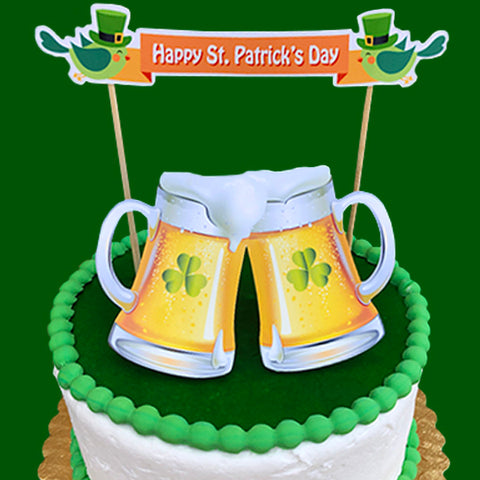 St. Patricks Cheers Cake
