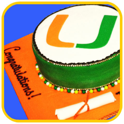 UM Graduation - The Office Cake Delivery Miami - Cakes