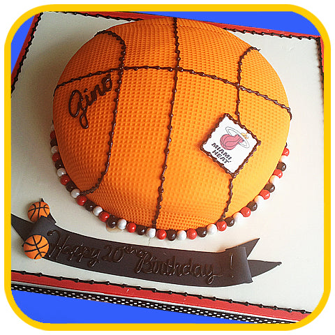 Basketball - The Office Cake Delivery Miami - Cake w/ Upsell