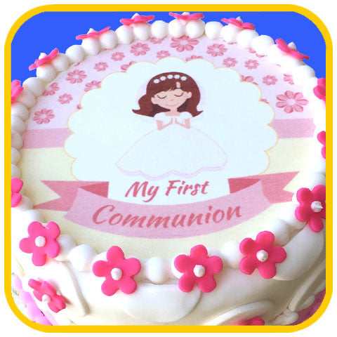 First Communion Girl - The Office Cake Delivery Miami - Cakes