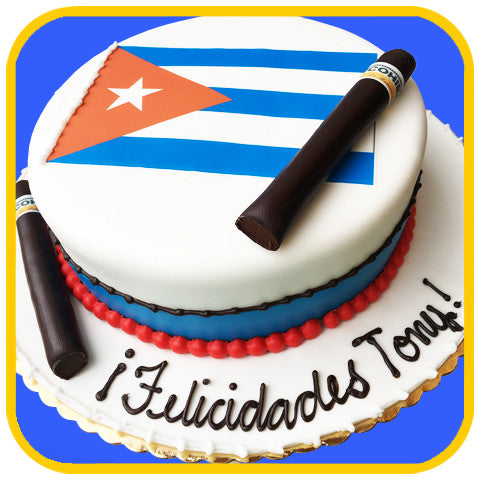 Cuban Flag & Cigar Cake
