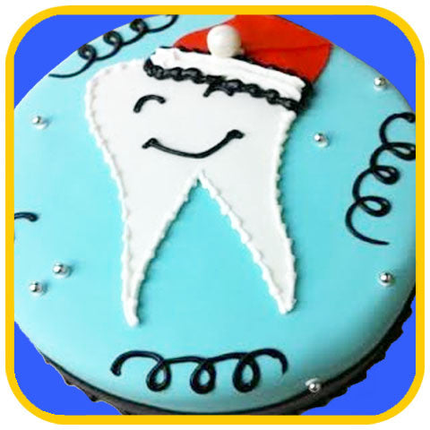 Dental Christmas Cake - The Office Cake Delivery Miami - Cakes