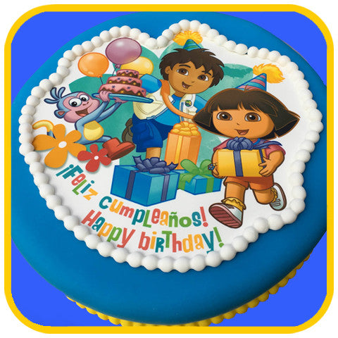 Dora the Explorer and Diego Cake - The Office Cake Delivery Miami - Cakes