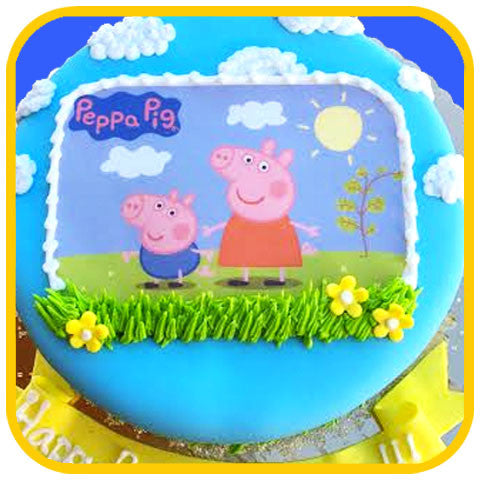 Peppa Pig Cake - The Office Cake Delivery Miami - Cakes